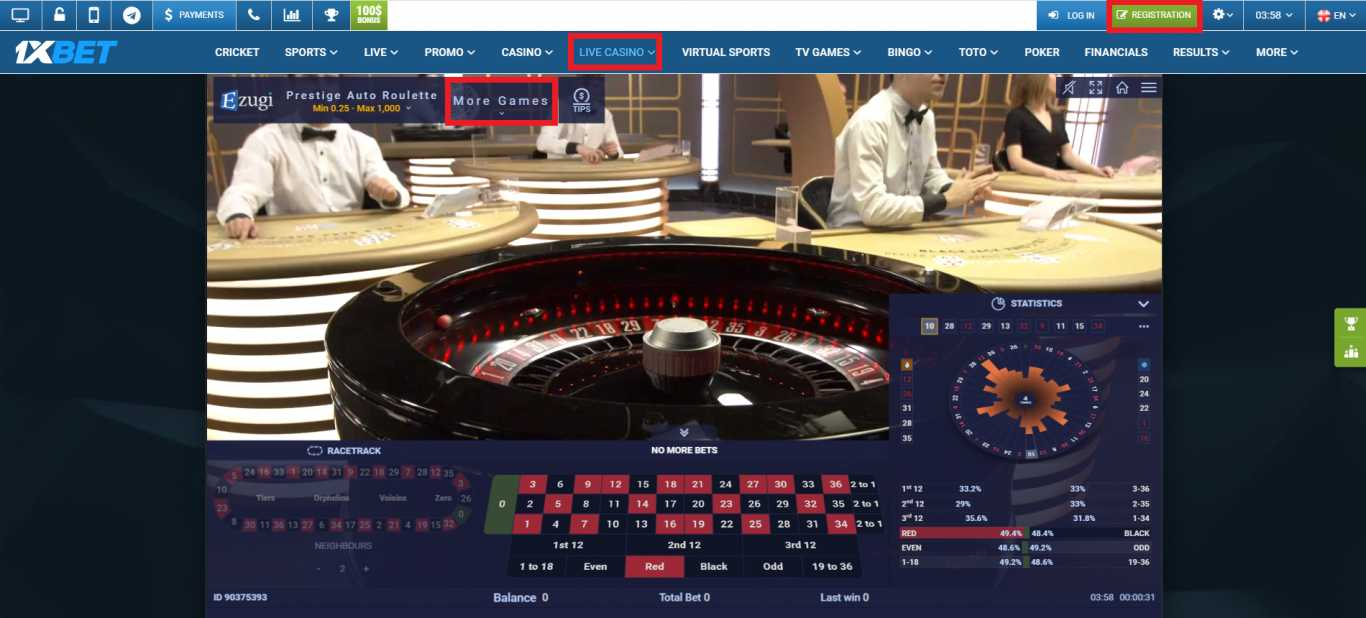 Accessing the 1xBet Casino Bonus